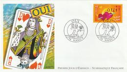 ENVELOPPE 1er JOUR . 23.03.2001 . OUI . MARIES DAME ROI DE COEUR . 54 NANCY - 2000-2009