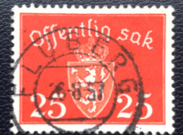 Norge - Norway - Noorwegen - P4/18 - (°)used - 1946 - Michel D55 - Offentlig Sak - Fluberg - Service