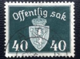 Norge - Norway - Noorwegen - P4/18 - (°)used - 1948 - Michel D41 - Offentlig Sak - Service