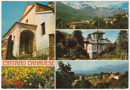 CINTANO CANAVESE - TORINO - VEDUTINE - VIAGG. 1975 -52910- - Otras Ciudades