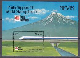 Nevis 1991 - Mi.Nr. Bl. 36 - Postfrisch MNH - Eisenbahnen Railways - Trains