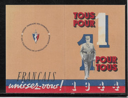 Calendrier 1944 - Pétain - Format 113x81 Mm - TB - Tamaño Pequeño : 1941-60
