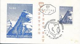 AUSTRIA - 1961  FDC - 75 JAHRE SONNBLICK OBSERVATORIUM  - 1345 - FDC