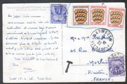 Zone Francaise, Carte Postale D'Allemagne Envoyee Par Un Militaire,  Taxée - 1921-1960: Moderne