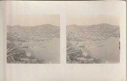 CARTE PHOTO STEREOSCOPIQUE Côte D'Azur VILLEFRANCHE SUR MER Vue Générale (1934) - Villefranche-sur-Mer