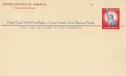 IN GOD WE TRUST, LIBERTY, STATUE OF LIBERTY, PC STATIONERY, ENTIER POSTAL, 1954, USA - 1941-60
