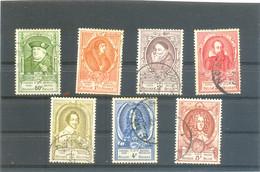 1952 BELGIQUE Y & T N° 880 à 886 ( O ) - Used Stamps