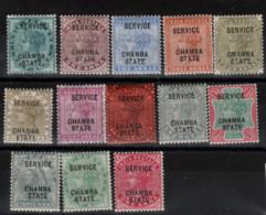 Indes - Protectorat  Anglais _  Chamba State Service (1886)   N °1/13 - Chamba