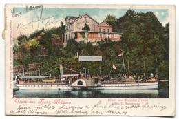 """Gruss Aus Hann. Münden - Hotel Und Pension """"Tivoli"""" - 1904 Used Germany Postcard - Hannoversch Muenden"""