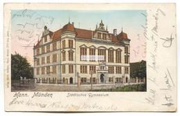 Hann. Münden, Hannoversch Münden - Städtisches Gymnasium, School - 1904 Used Postcard - Hannoversch Muenden