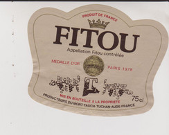 FITOU - Medailled'or Paris 1978 - Aude - Languedoc-Roussillon