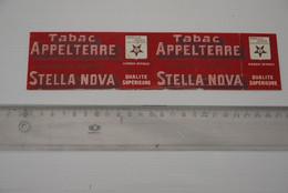 Tabak Tabacco  Etiket Periode 1900-1920 Stella Nova  Appelterre - Etiquetas