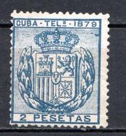 CUBA - (Occupation Espagnole) - 1879 - Télégraphe - N° 46 - 2 P. Bleu - (Armoiries) - Telegrafo
