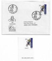 Bundle   Personalized Stamp + Circulated Envelope ,  2018 ,  Escola D, Manuel Martins Setubal  Commemorative Postmak , - Ciclismo