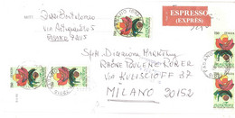 ESPRESSO ANNULLO FASANO BR 5 X £750 EUROFLORA GENOVA - 1991-00: Marcophilie