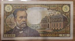 Billet 5 Francs Pasteur 1968 - 5 F 1966-1970 ''Pasteur''