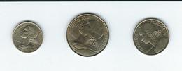 FRANCE   LOT  5 Centimes 1996, 10 Centimes 1998, , 20 Centimes  1997 - Altri