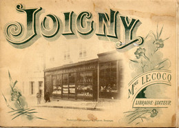 - JOIGNY (89) -  Brochure De La Librairie De Mme Lecocq, Contenant 12 Vues De Joigny  -21772- - Unclassified