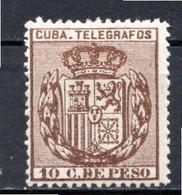 CUBA - (Occupation Espagnole) - 1894 - Télégraphe - N° 75 - 10 C. Brun - (Armoiries) - Telegrafo