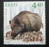 """Estonie 2002 - """"Sanglier""""  - Neuf ** MNH - Animalez De Caza"""
