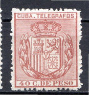 CUBA - (Occupation Espagnole) - 1894 - Télégraphe - N° 77 - 40 C. Brun - (Armoiries) - Telegrafo