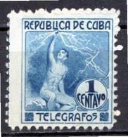 CUBA - (Occupation Espagnole) - 1916 - Télégraphe - N° 95 - 1 C. Bleu - Telegrafo