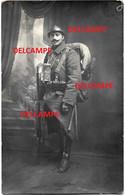 Orginal Photo Belgian Soldier Full Uniform Gasmask Rifle Bayonet Belgische Soldaat In Volledige Uitrusting 1918 - 1914-18