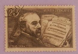 """FRANCE YT 542 OBLITERE """"EMMANUEL CHABRIER"""" ANNÉE 1942 - Oblitérés"""