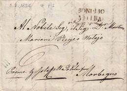 SONDRIO Per Morbegno 5.2.1834 - 1. ...-1850 Prefilatelia