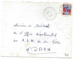 Algérie  LSC La Senia Aéroport Oran 05/09/60 - Cartas