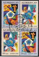 2006 Aserbeidschan Azerbaycan   Mi. 638-9 DD Used  Booklet Set  Europa  Integration. - 2006