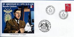 NOUVELLE CALEDONIE (New Caledonia)- Enveloppe événementielle Avec Timbre Personnalisé - 2020 - De Gaulle - Appel 18 Juin - Covers & Documents