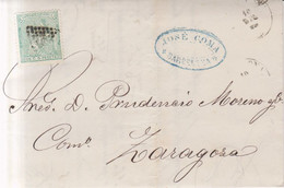 Año 1873 Edifil 133 10c Alegoria Carta IMPRESA Matasellos Rombo Barcelona Membrete Fabrica De  Merinos - Cartas