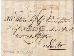 GENOVA Per Loreto 19.12.1817 - 1. ...-1850 Prefilatelia