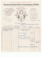 13_MARSEILLE_huilerie ANTONNIN ROUX_facture Pour  Tiercelin A Saint Laurent Blangy - 1900 – 1949