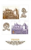 Czech Republic - 2020 - Prague Motifs - View Of Prague Castle From National Theatre - Mint Souvenir Sheet - Ungebraucht