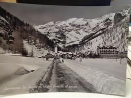 Cartolina Gressoney La Trinitè Prov Aosta Entrata Al Paese Paesaggio Invernale, Neve 1964 - Zonder Classificatie