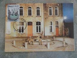 CARTE MAXIMUM CARD LA FONTAINE DE CLAUDE RAHIR BELGIQUE - Scultura