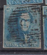 Belgique N°2 20c épaulettes Ob P 62 HUY  Pour Marges, Variétés Et Nuances Voir Scan; Supplémentaires Sur Demande - 1849 Mostrine