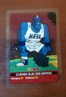 Lot De 2 Cartes Jeu De Cartes à Jouer Cards Carte DBZ Dragon Ball Z Lamincards Les Gardiens Bleu & Rouge Des Enfers..B.E - Dragonball Z