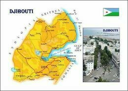 Djibouti Country Map New Postcard - Landkaarten