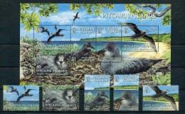 "Pitcairn - Block Nr. 37 Und Mi.Nr. 664 / 668  - ""Murphy-Sturmvogel"" ** / MNH (aus Dem Jahr 2004) - Islas De Pitcairn"