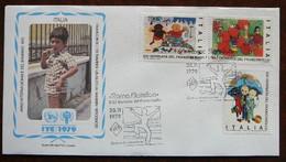 International Year Of The Child    Italy  -  Italie     FDC    Mi   1679-81   Yv   1411-13     1979 - 1971-80:  Nuovi