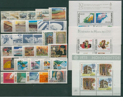 Portugal 1978  Ano Completo MNH (Inc. Açores E Madeira) - Complete Year - Unclassified