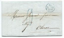 MARQUE POSTALE PARIS POUR OLORON / 1833 / TAXE 10 - 1801-1848: Precursors XIX