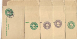 MEXICO FIVE OLD WRAPPERS UNUSED - Mexico