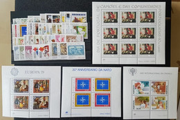 Portugal 1979  Ano Completo MNH (Inc. Açores E Madeira) - Complete Year - Unclassified