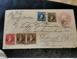 Enveloppe, Argentina Envoyé à Gand Belgique 1897. Recommandé Buenos Aires - Briefe U. Dokumente