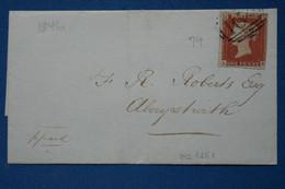 C GRANDE BRETAGNE BELLE LETTRE RARE 1846 LONDRES POUR NEW YORK USA + AFFRANCH INTERESSANT - Briefe U. Dokumente