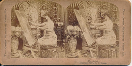 Photo Stéréo : The Artist - Artiste Peintre Devant Son Chevalet (1900) (BP) - Stereoscoop